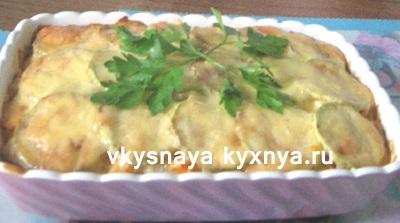 Как приготовить картофельную запеканку с луком