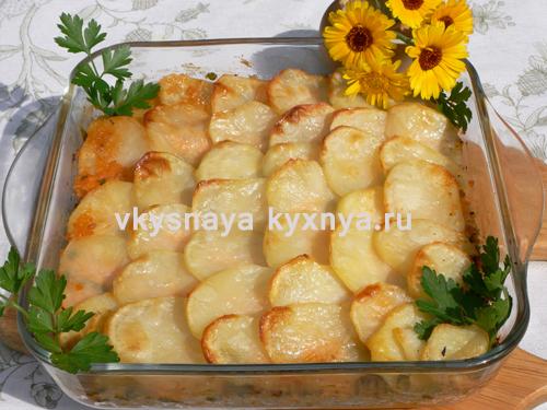 Треска запеченная с картофелем в духовке