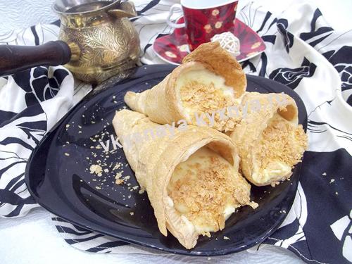 Трубочки с заварным кремом, рецепт приготовления с пошаговым фото