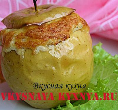 как запечь яблоки в духовке рецепт