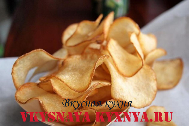 чипсы без масла в духовке рецепт с фото