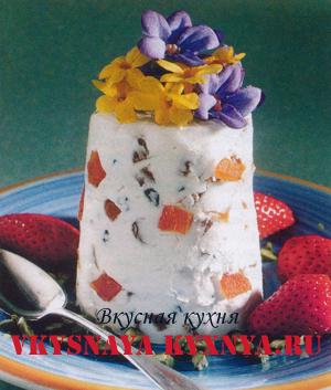 Торт «Пасха сырая с цукатами