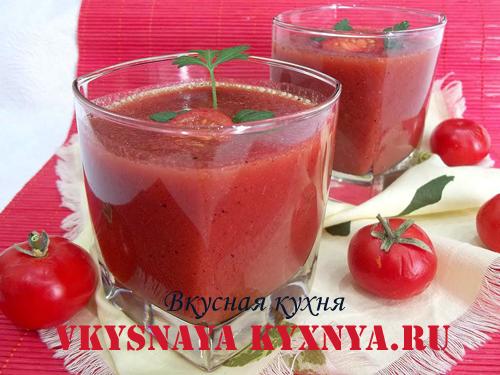 Холодный суп из помидоров гаспачо