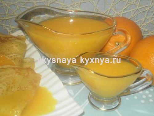 Блины с апельсиновым соусом