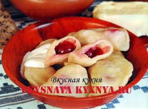 Особенности украинской кухни. Вареники с вишней.