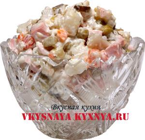 Оригинальный салат Оливье - 6 рецептов