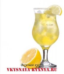Рецепты новогодних коктейлей. Лимонный коктейль.