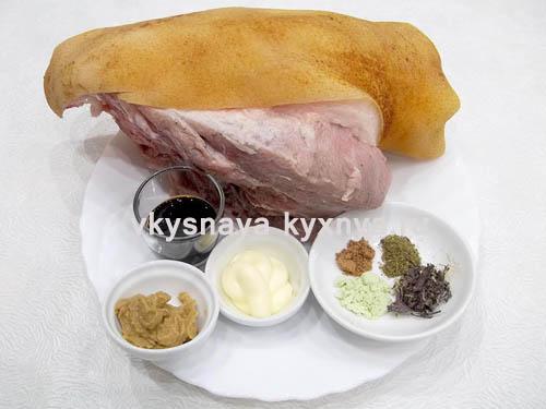 Свиная вырезка, запеченная в духовке, ингредиенты
