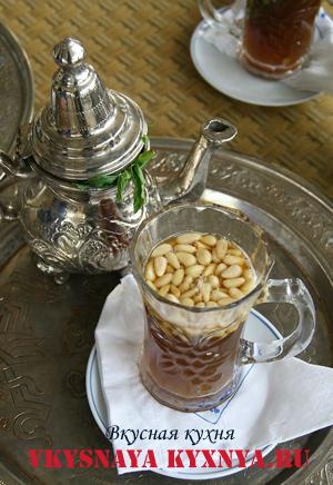 Кухня Туниса. Зеленый чай с мятой.