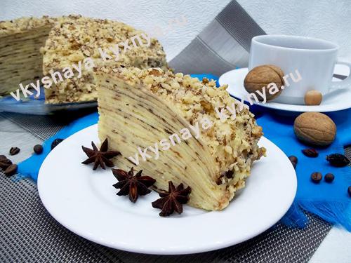 Блинный торт с заварным кремом: невероятная вкусняшка