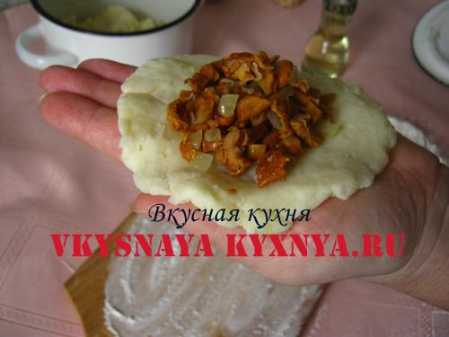 Грибной фарш на картофеле