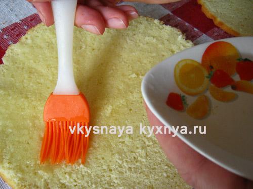 Смазывание кожа сиропом от персиков