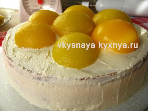 Смазывание кремом боков торта