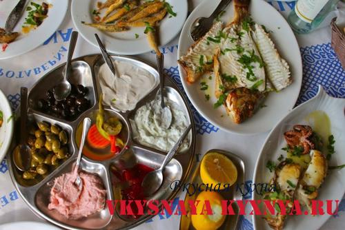 Кухня Кипра. Рыбное мезе.