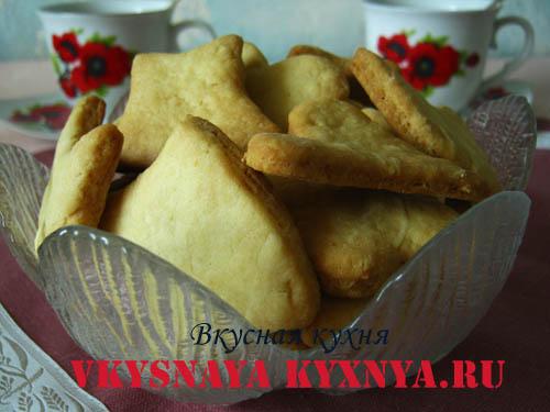 Домашнее майонезное печенье.