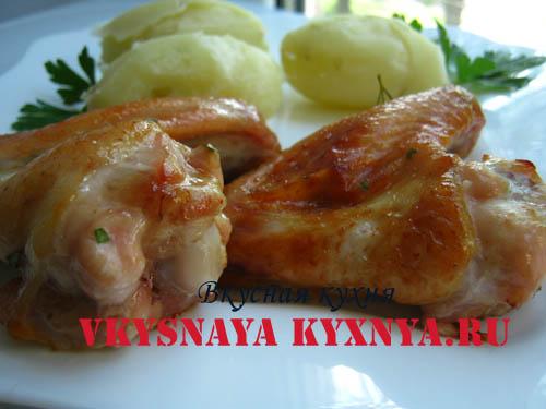 маринад куриные крылышки в духовке рецепт с фото