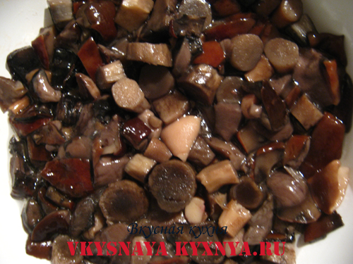 Отварные грибы