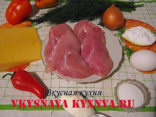 Куриные рубленные котлеты с сыром ингредиенты
