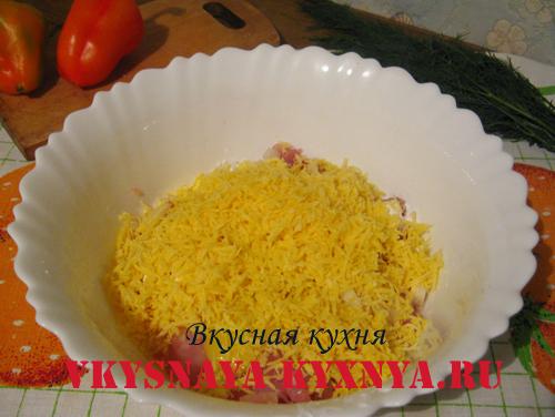 Куриный фарш с сыром