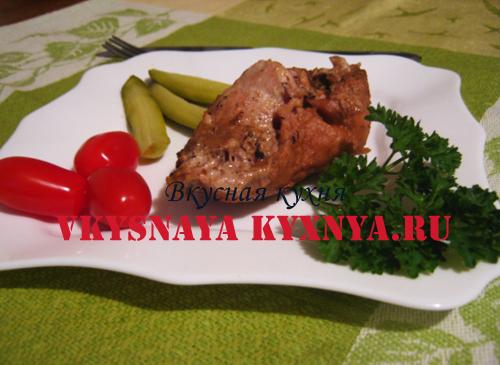 Отбивные из свинины с грибами рецепт с фото