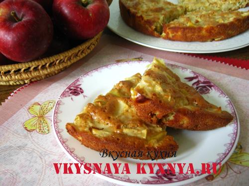 Пирог из яблок антоновки (шарлотка): быстрый рецепт приготовления в духовке