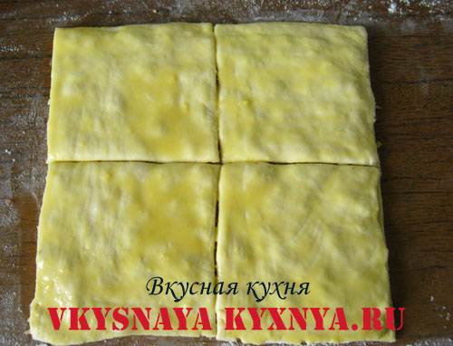 Тесто разрезанное на квадраты