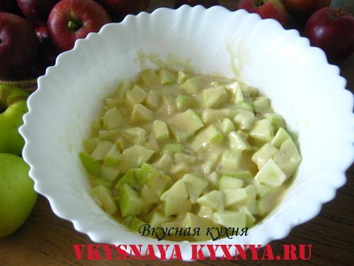 Пирог из яблок антоновки (шарлотка)