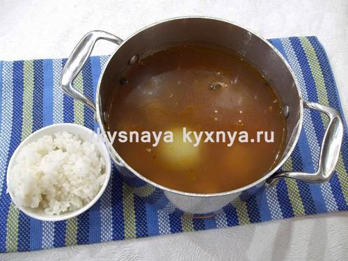 Добавление в харчо риса