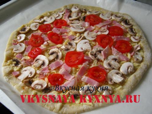 Готовая к выпечке пицца