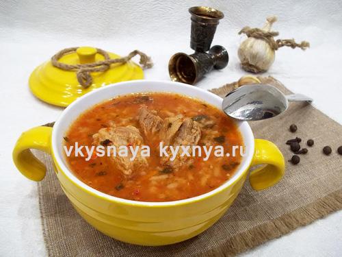 Как приготовить суп харчо из свинины