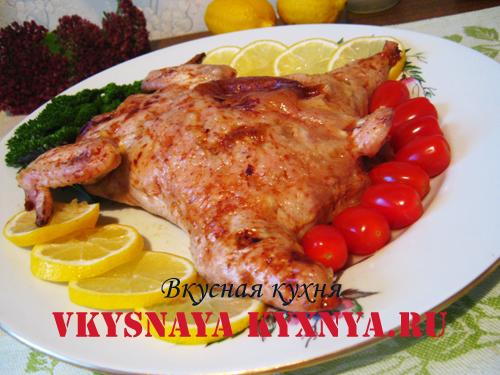 Фаршированная курица без костей, запеченная в духовке, рецепт приготовления с фото