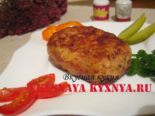 котлета куриная рубленая с сыром рецепт с фото