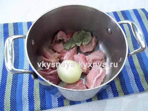 Нарезанное для супа мясо