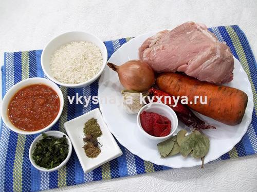 суп харчо из свинины, ингредиенты