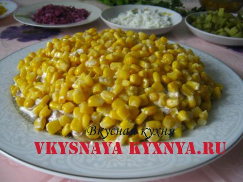 Четвертый слой - кукуруза