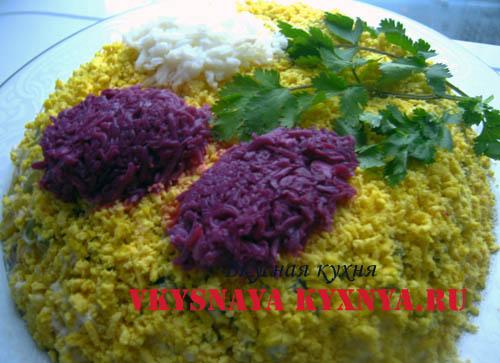 Цветы сирени салат