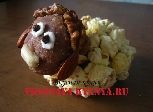 Овечка печенье с орехами