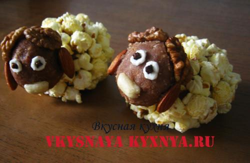 Овечки ореховое печенье