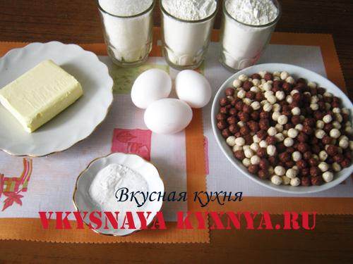 Печенье ежики - ингредиенты