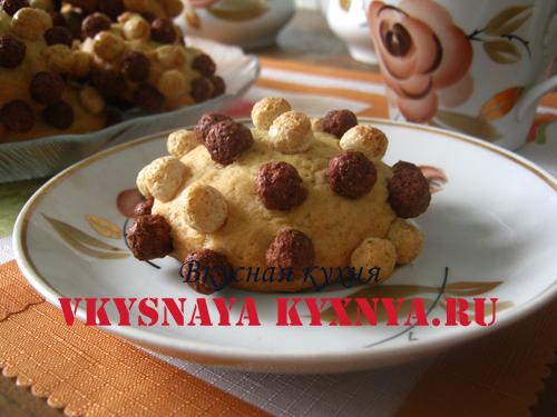 Печенье ежики на блюдце