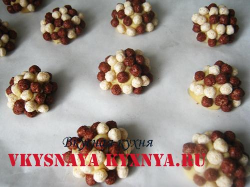 Печенье ежики на протвине