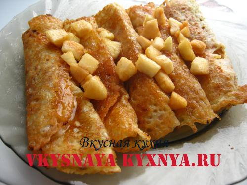 Вкусные начинки для блинов. Как приготовить блины с яблочной начинкой
