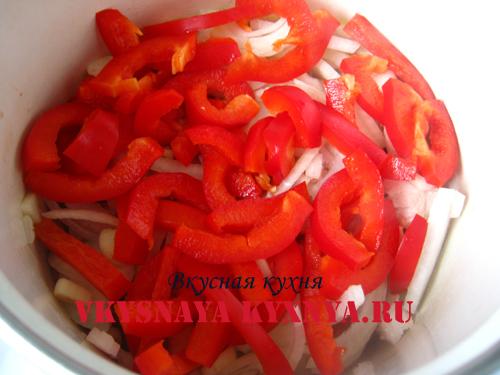 Обжаривание перца