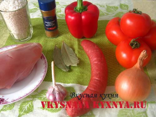 Овощное рагу с курицей - ингредиенты