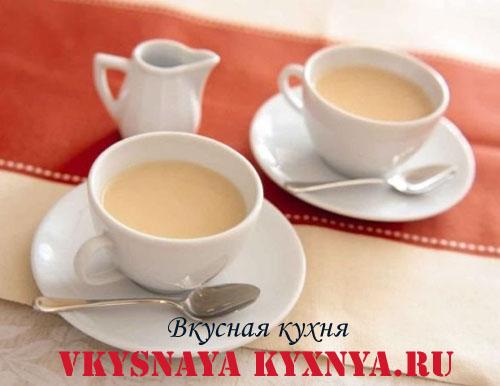 Чай мате с молоком.