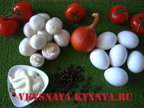 Яйца, фаршированные грибами ингредиенты