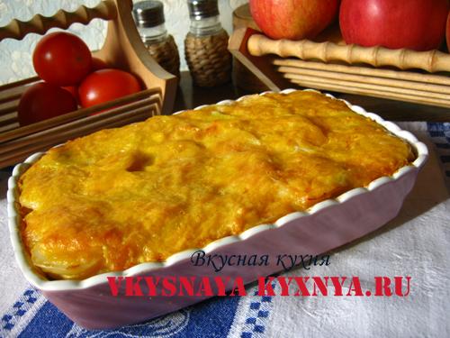 Картофельная запеканка с грибами и сыром, рецепт с фото пошагово