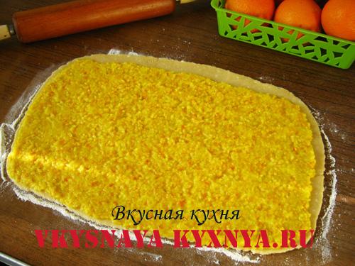 Апельсиновая начинка на тесте