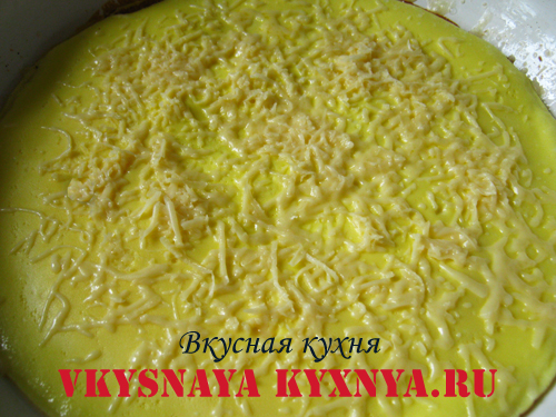 Омлет с тертым сыром