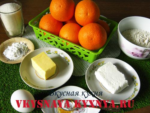Печенье с апельсиновой начинкой, ингредиенты